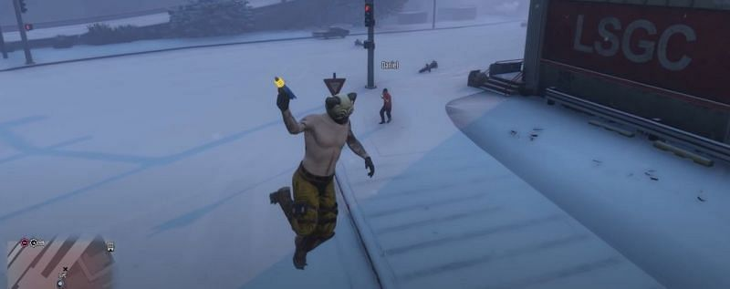 The Up-n-Atomizer is a strange weapon in GTA Online (Image via Rockstar Games)