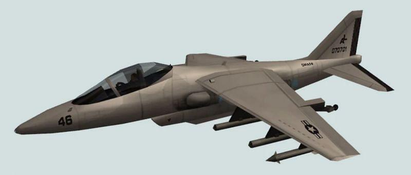 GTA San Andreas had far more planes, such as the Hydra shown above(Image via Rockstar Games)