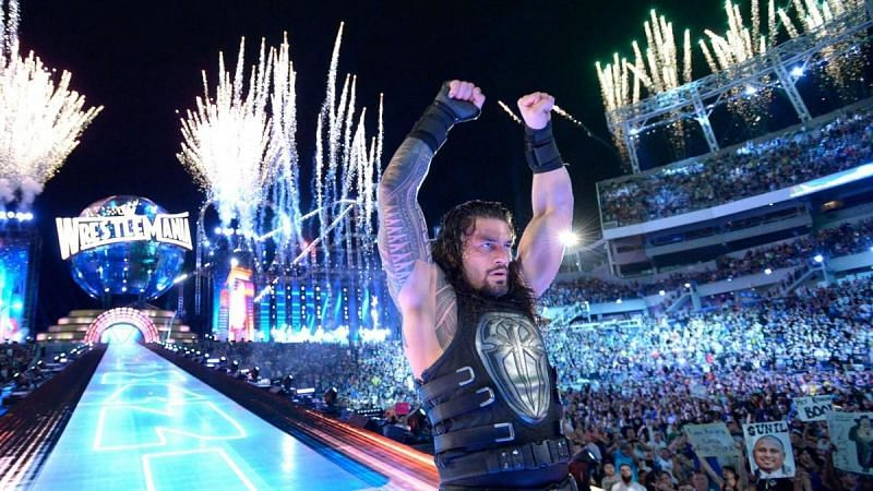 Roman Reigns after defeating The Undertaker at WrestleMania 33