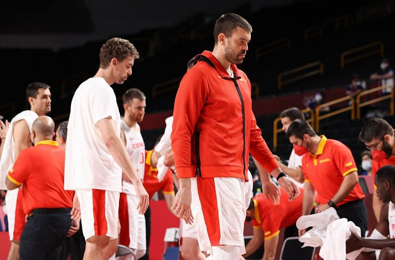 Pau y Marc Gasol de la selección de España