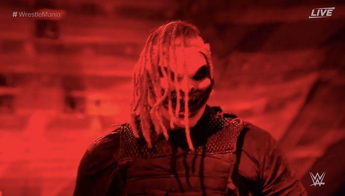 Bray Wyatt in his final WWE  at WrestleMania 37