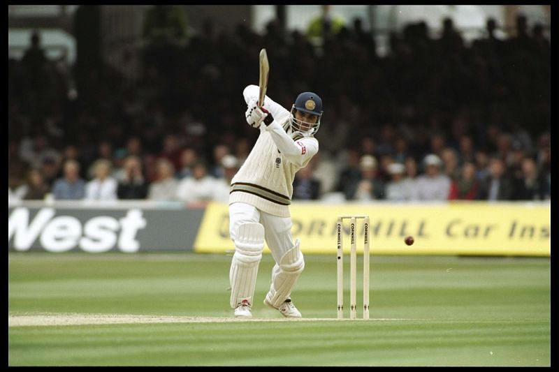Sourav Ganguly of India during his debut century