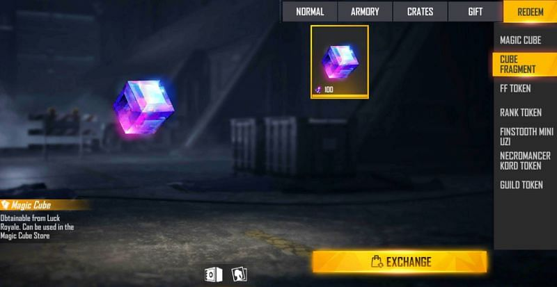 Magic Cube Fragments are needed to redeem a Magic Cube (Image via Free Fire)