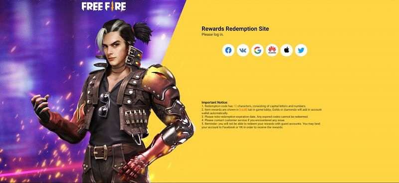 You can redeem the rewards after signing in (Image via Free Fire)