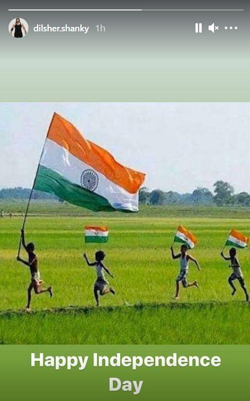 WWE में भारतीय रेसलर दिलशेर शैंकी ने इंस्टाग्राम पर एक स्टोरी के माध्यम से लोगों को स्वतंत्रता दिवस की बधाई दी।