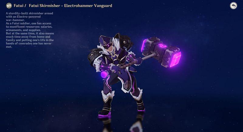 Electrohammer Vanguard in Archive (Image via Genshin Impact)