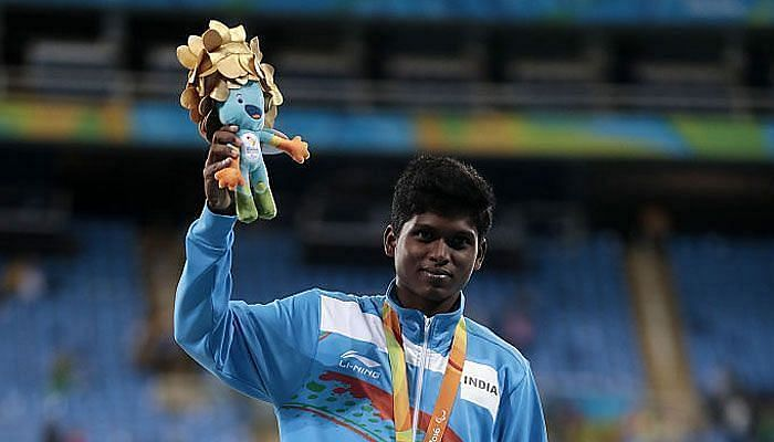 मरियप्पन थंगवेलु ने 2016 रियो पैरालंपिक्स में स्वर्ण पदक जीता था