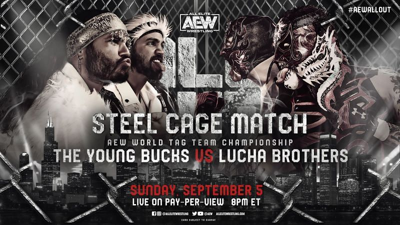 AEW All Out 2021 5 Finishes for the AEW World Tag Team Championship match between The Young Bucks and Lucha Brothers at All Out 2021