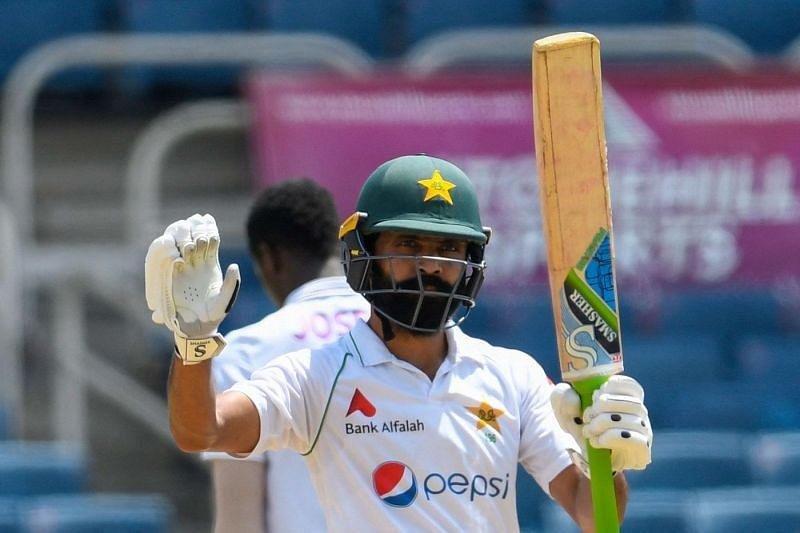 Fawad Alam celebrates his fifty. (Credits: Twitter