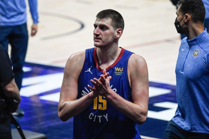 Nikola Jokic #15 of the Denver Nuggets