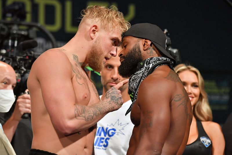 Jake Paul v Tyron Woodley - Weigh In