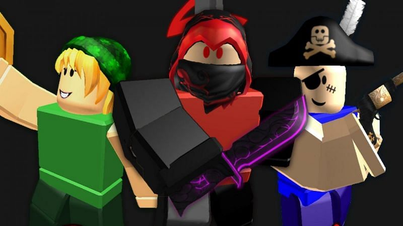 Various in-game models from Murder Mystery 2. (Image via Roblox Corporation)