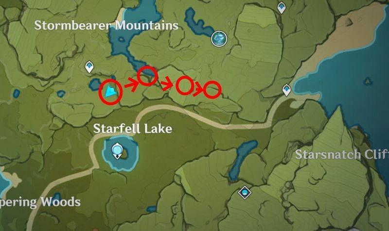 Just go east for this farming location (Image via Sportskeeda)