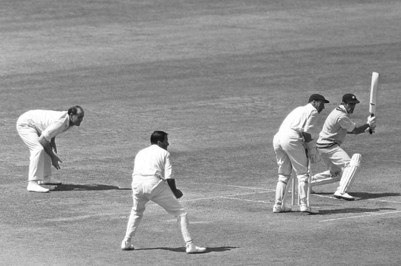 MAK Pataudi en route to his century in the second innings.
