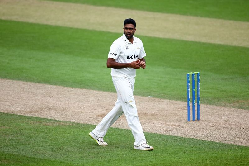 Ashwin in action for Surrey in a game against Somerset - LV= Insurance County Championship
