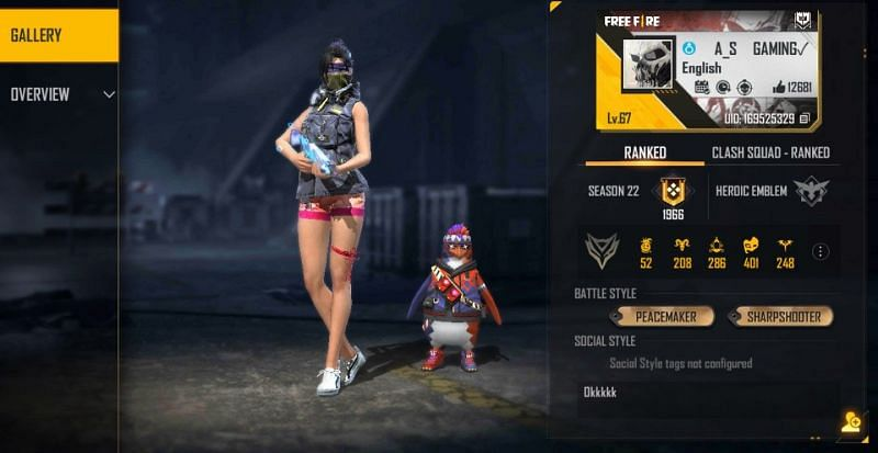 AS Gaming is a talented Free Fire content creator (Image via Free Fire)