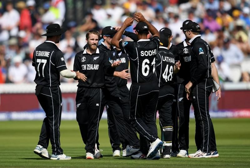 New Zealand cricket team in the 2019 World Cup in England. (Credit: Twitter)