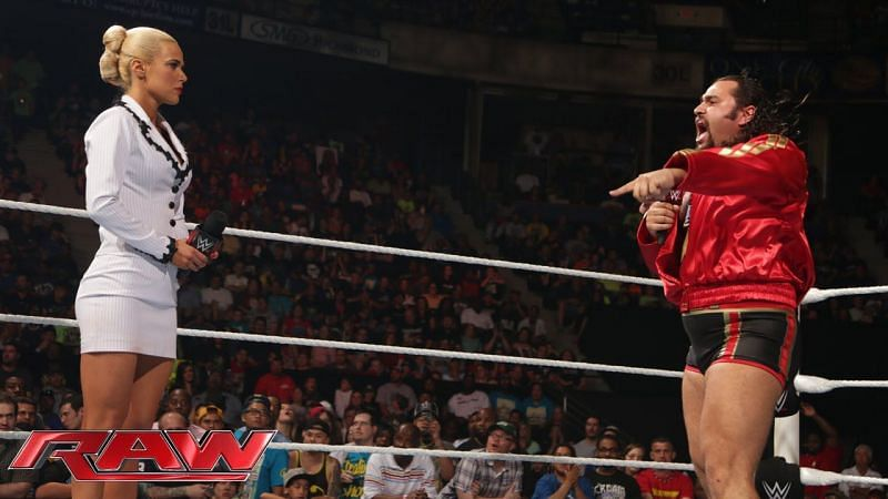 Lana and Rusev in WWE in 2015