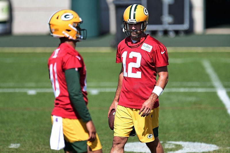 Jordan Love & Aaron Rodgers - Green Bay Packers Training Camp