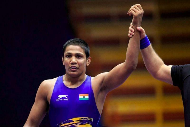 Gourav Baliyan (©twitter/WrestlingTV)