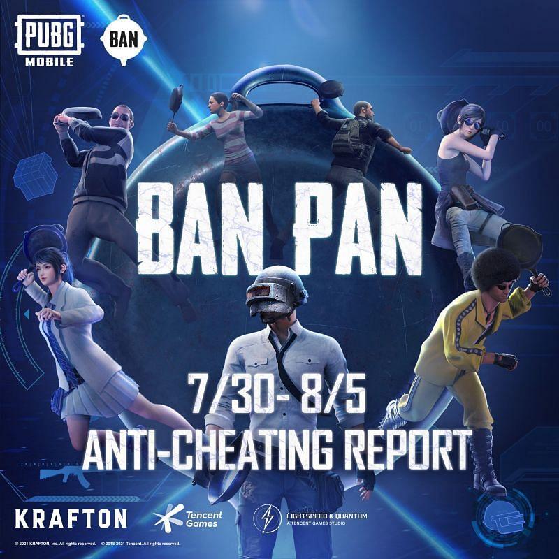 PUBG Mobile anti cheating report