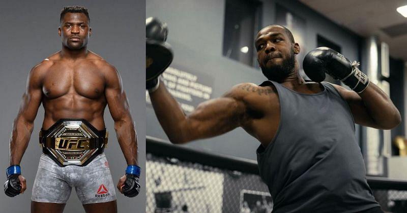 Francis Ngannou (left), Jon Jones (right) [Images Courtesy: @francisngannou @jonnybones on Instagram]
