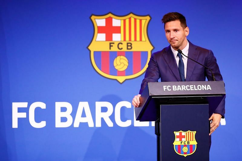 Lionel Messi had his final press conference for Barcelona on August 8