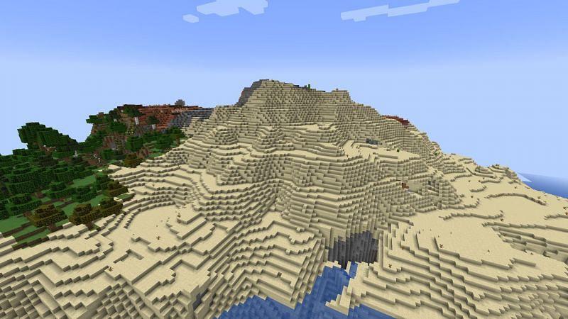 Stony Peaks Mountain Biome (Imagen a través de Minecraft)