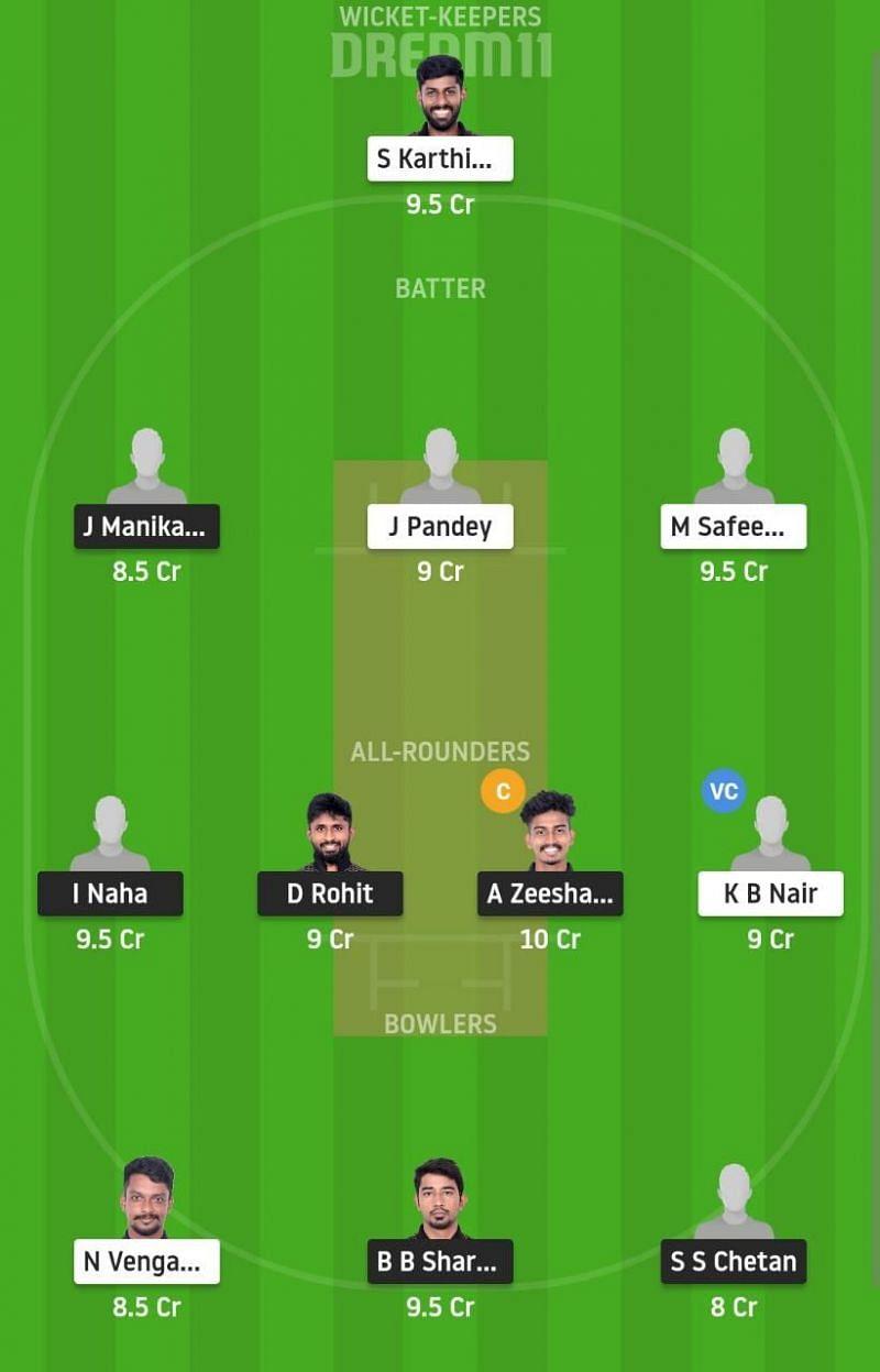 PAN vs BUL Dream11 Fantasy Suggestion #1 - Pondicherry T20