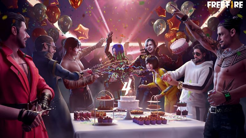 Dimitri Vegas & Like Mike (Dimitri & Thiva), KSHMR (K), and Alok (Alok) join Free Fire's cast of characters for the game's 4th-anniversary celebrations