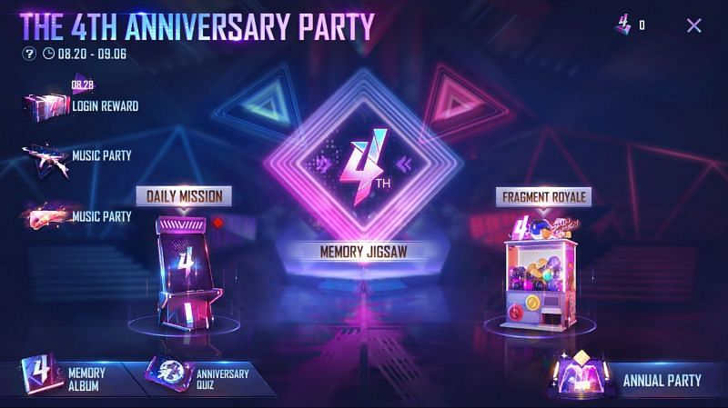 You need to tap on the anniversary quiz option (Image via Free Fire)