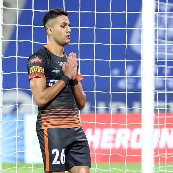 Indian youngster Ishan Pandita is on his way out of the club after a single season [Image Credits: F.C. Goa/Twitter]