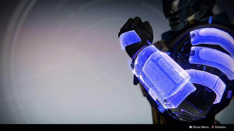 No Backup Plans exotic gauntlet for Titans (Image via Bungie)