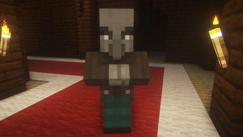 Vindicator in-game (Image via Minecraft)