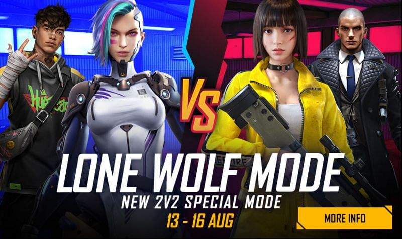The Lone Wolf 2v2 special game mode has been launched (Image via Free Fire)