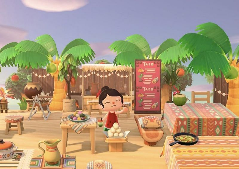 Songpyeon is part of the Chuseok celebrations in Animal Crossing (Image via Nintendo)