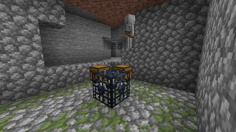 Skeleton spawner (Image via Minecraft)