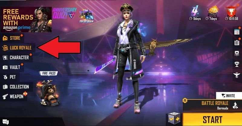 Los jugadores deben abrir el juego y luego hacer clic en este icono (Imagen a través de Free Fire)