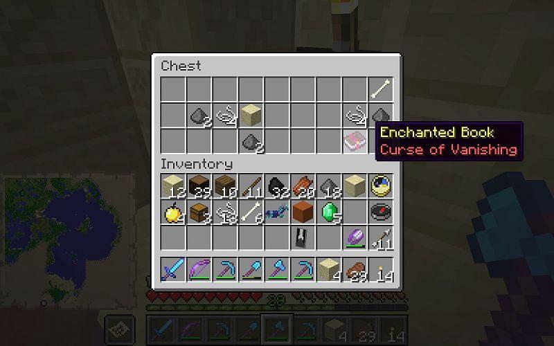 Curse of Vanishinig enchanted book (Image via Minecraft)