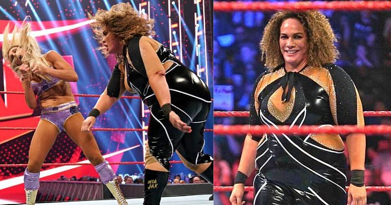 Nia Jax and Charlotte Flair landed real strikes during the chaotic RAW match.
