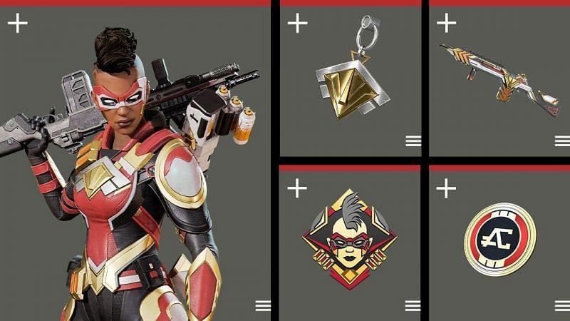 Ikhtisar semua yang termasuk dalam paket Apex Legends Bangalore Edition (Gambar melalui Electronic Arts)