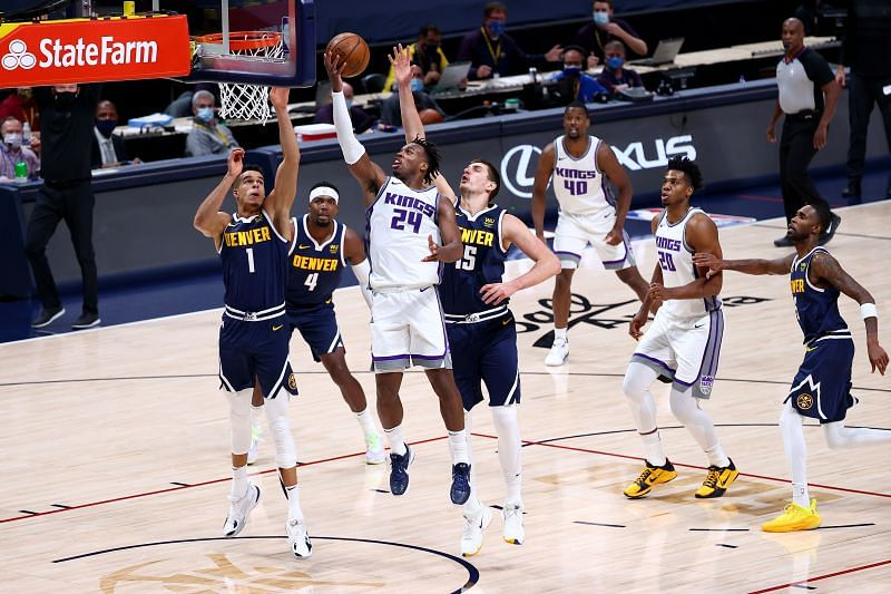 Denver Nuggets in a game against the Sacramento Kings