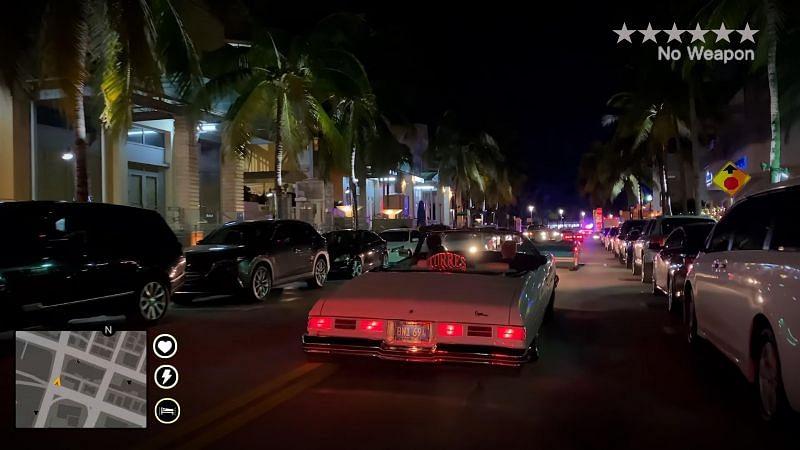 A GTA 6 HUD concept based on real-life images (Image via GroundbreakingTest22, Reddit)