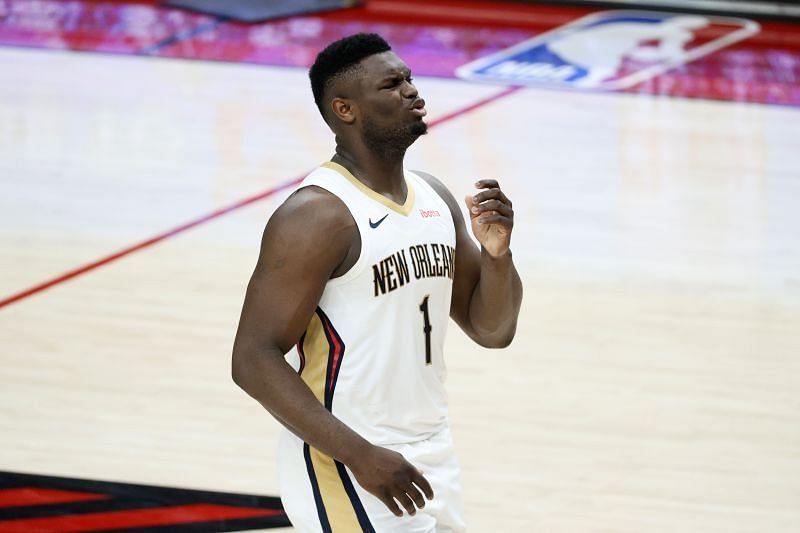 Zion Williamson na tekmi New Orleans Pelicans proti Portland Trail Blazers