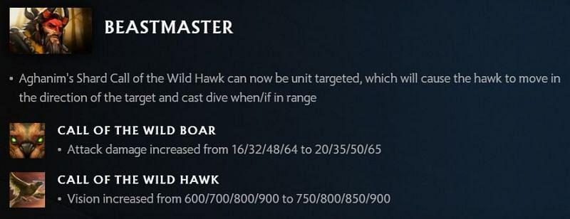 Beastmaster changes in 7.30 (Image via Valve)