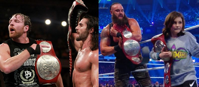 Raw टैग टीम चैंपियनशिप को कई सारे सुपरस्टार्स जीत चुके हैं