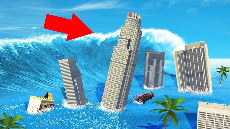 GTA 海啸模组(来源:Youtube @Jelly)