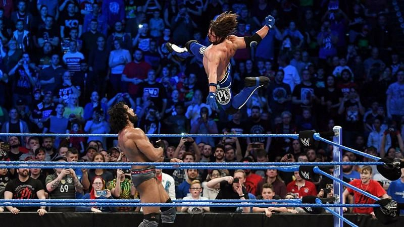 AJ Styles replaced Jinder Mahal after defeating him on WWE SmackDown