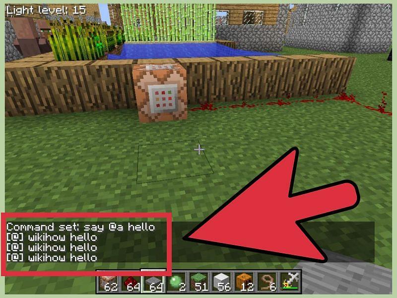 Minecraft commands (Image via WikiHow)