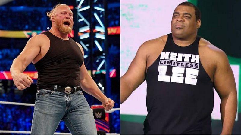 WWE सुपरस्टार्स ब्रॉक लैसनर और कीथ ली